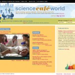 screenshot of Science Café World homepage